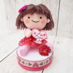私のハンドメイド作品!「女の子人形」