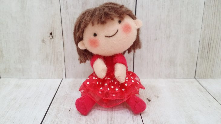 私のハンドメイド作品!「女の子人形②」